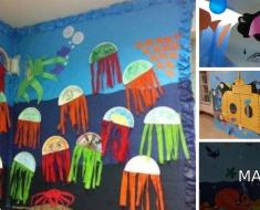 Decoração de Sala de aula com o Tema O Fundo Do Mar