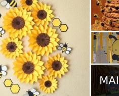 Decoração para sala de aula com o tema abelhas