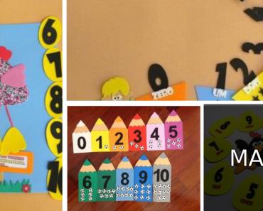 Ideias com números para sala de aula
