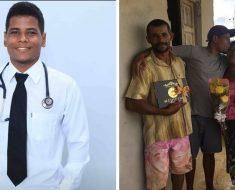 Homem quilombola e filho de lavradores torna-se médico da sua povoação