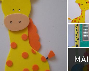Ideias de decoração com Girafas - Decoração da sala de aula