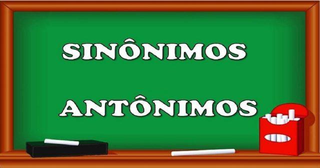 Plano de aula dos Sinônimos e Antônimos