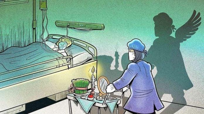 Ilustrações mostram o heroico trabalho dos profissionais de saúde no combate à pandemia
