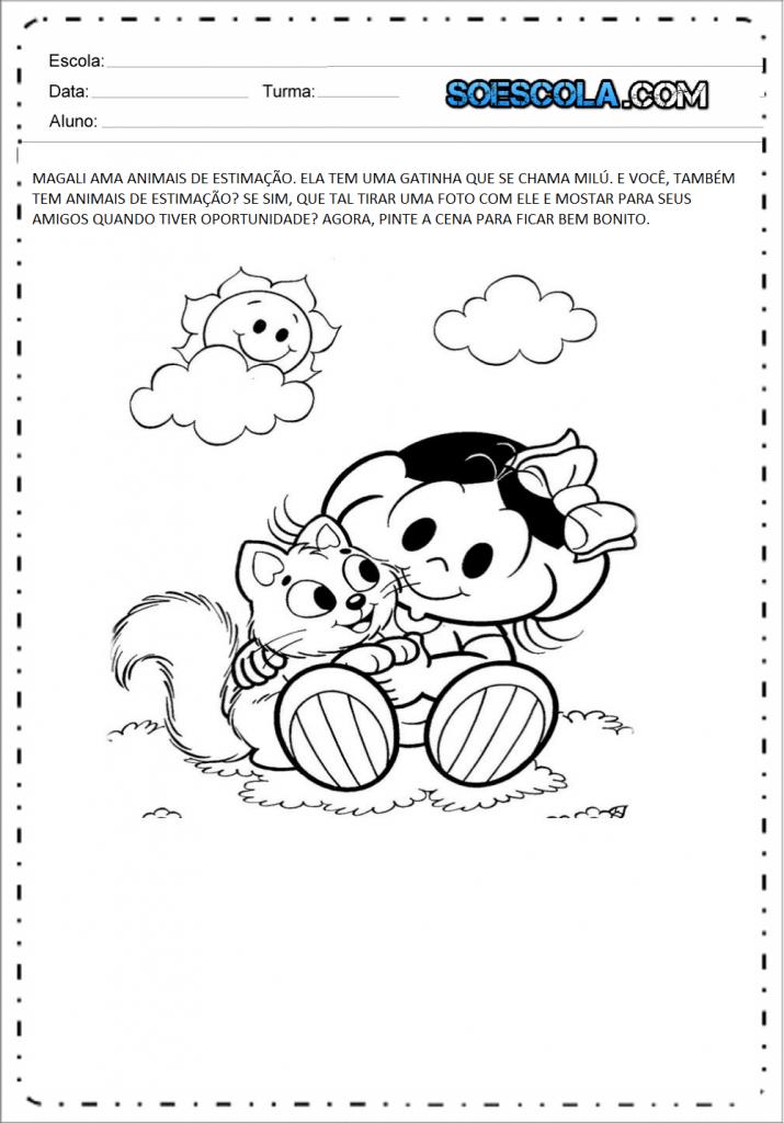Atividades Edução Infantil Nível 4 - Animais