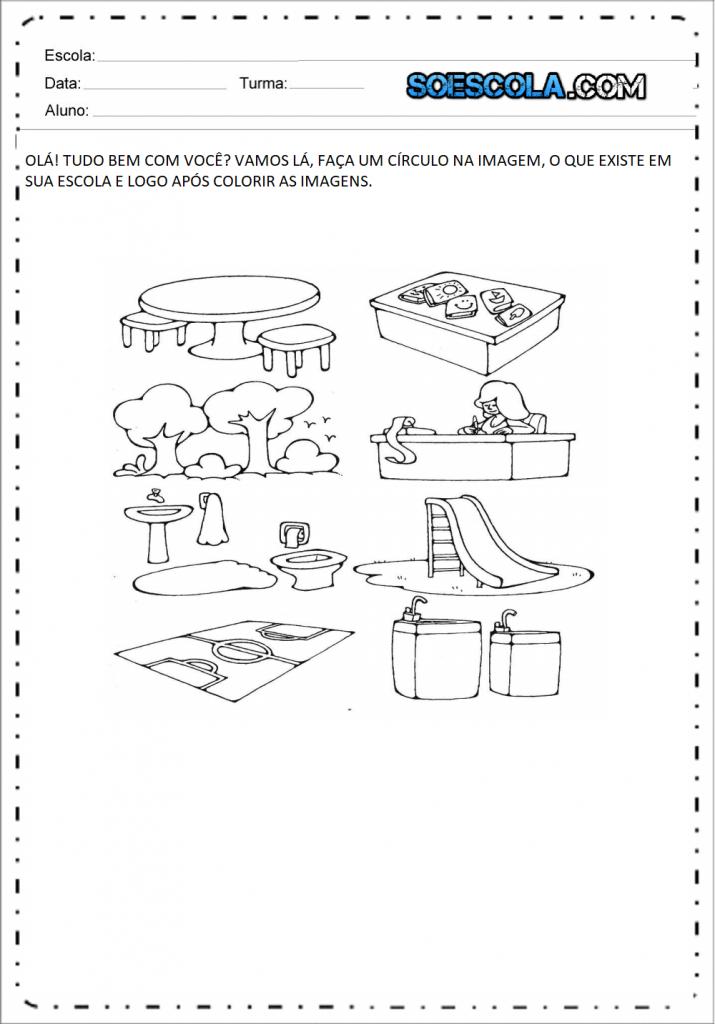 Atividades Edução Infantil Nível 4 -Circulo na Imagem
