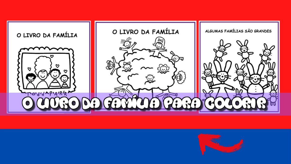 O livro da família para colorir